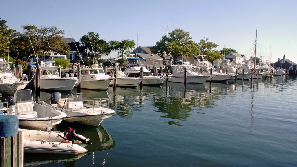 Nantucket featuring a marina, general coastal views and a bay or harbor