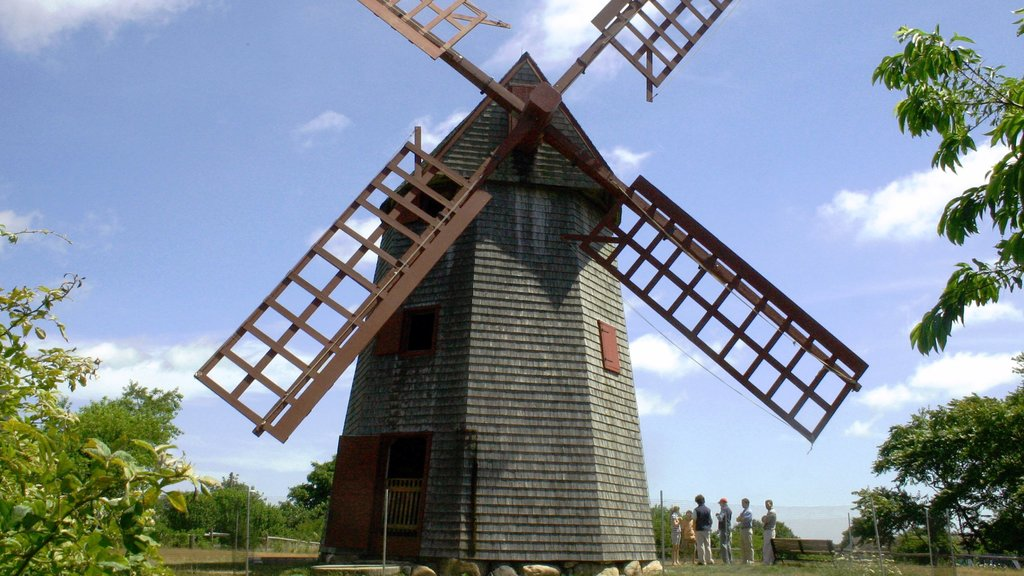 Nantucket which includes heritage architecture and a windmill