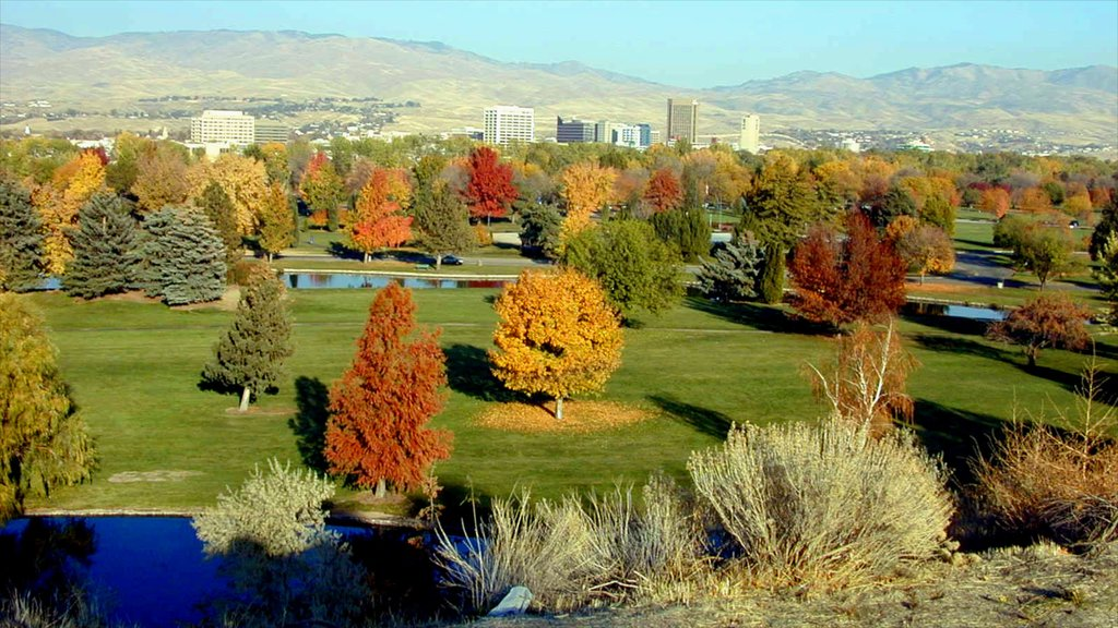 Boise featuring a park and fall colors