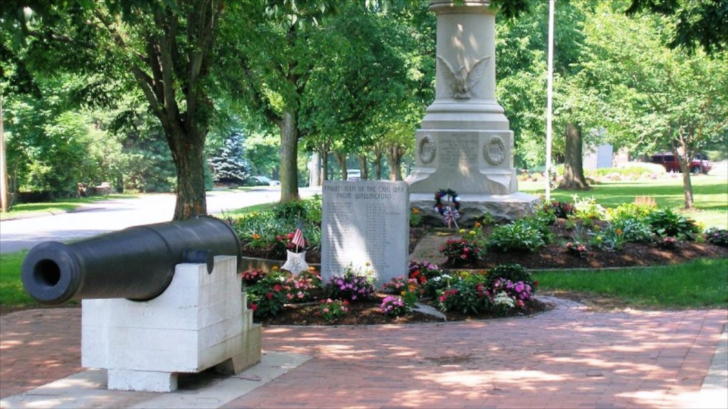 New Haven featuring a memorial, a garden and a monument