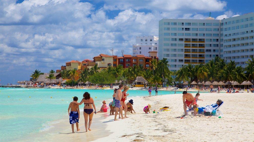 Cancun featuring a beach, general coastal views and tropical scenes