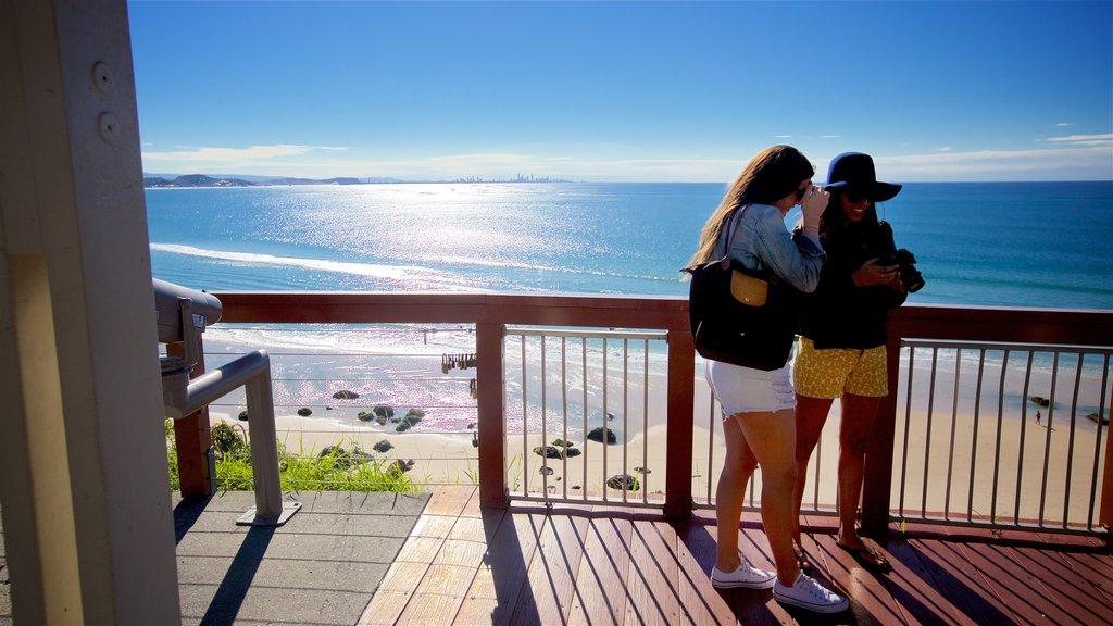 Coolangatta which includes views, general coastal views and a sandy beach
