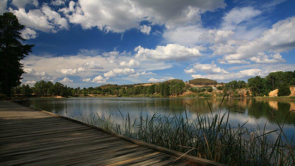 Beechworth showing a lake or waterhole