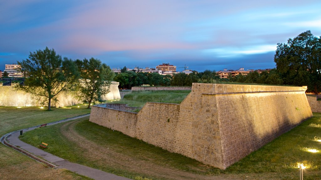 Ciudadela featuring landscape views, heritage elements and night scenes