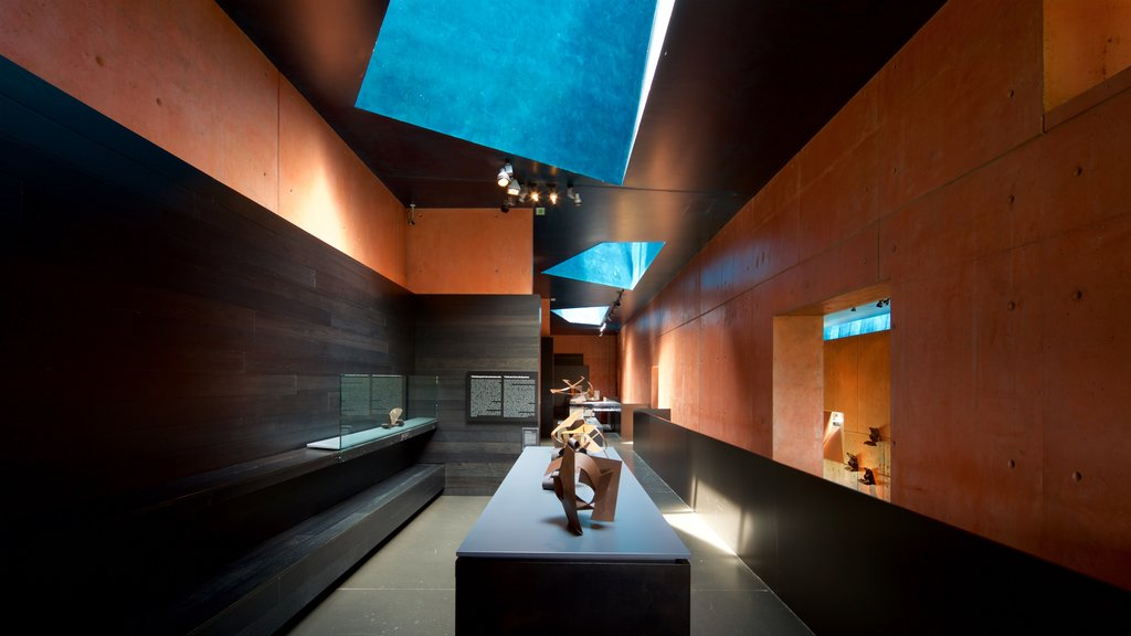 Jorge Oteiza Museum featuring art and interior views