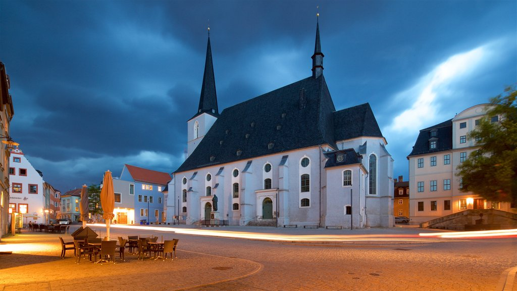 Stadtkirche St Peter und Paul which includes a church or cathedral and night scenes