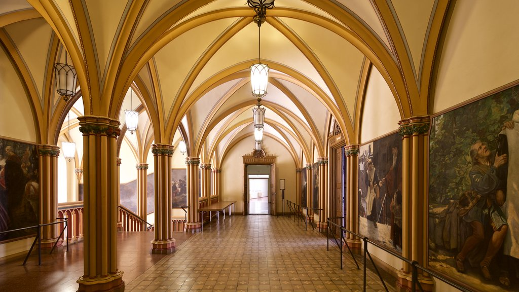 Rathaus featuring religious elements, heritage elements and interior views