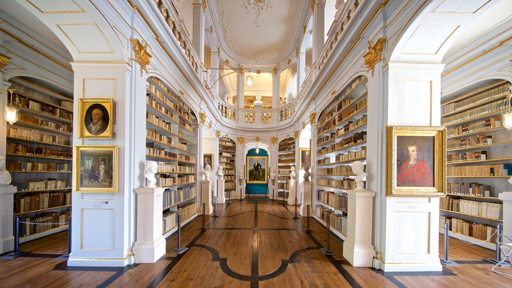 Duchess Anna Amalia Library showing interior views, heritage elements and art