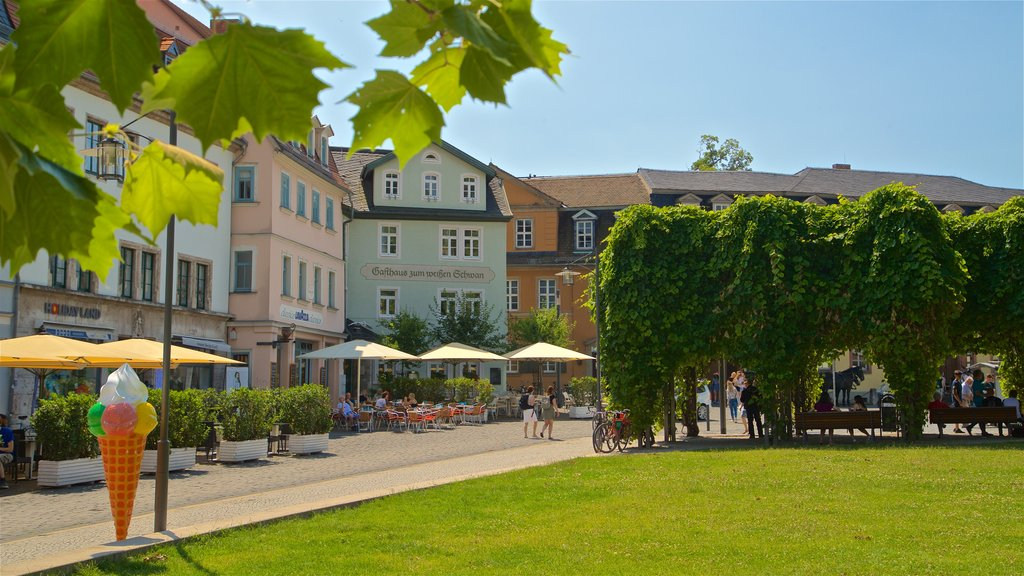 Weimar which includes a park