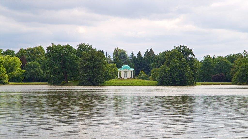Karlsaue Park featuring a lake or waterhole