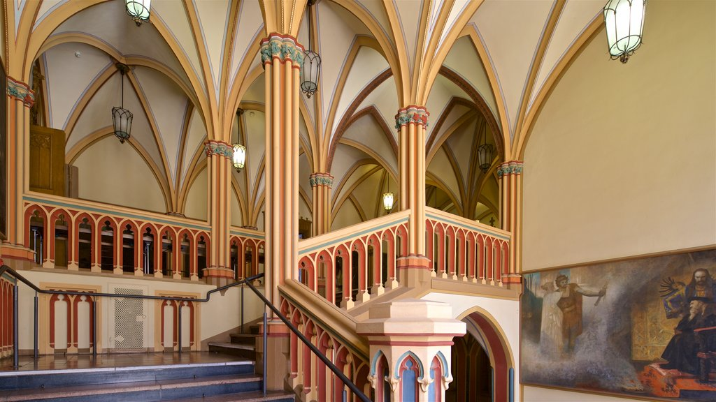 Rathaus showing heritage elements, interior views and art
