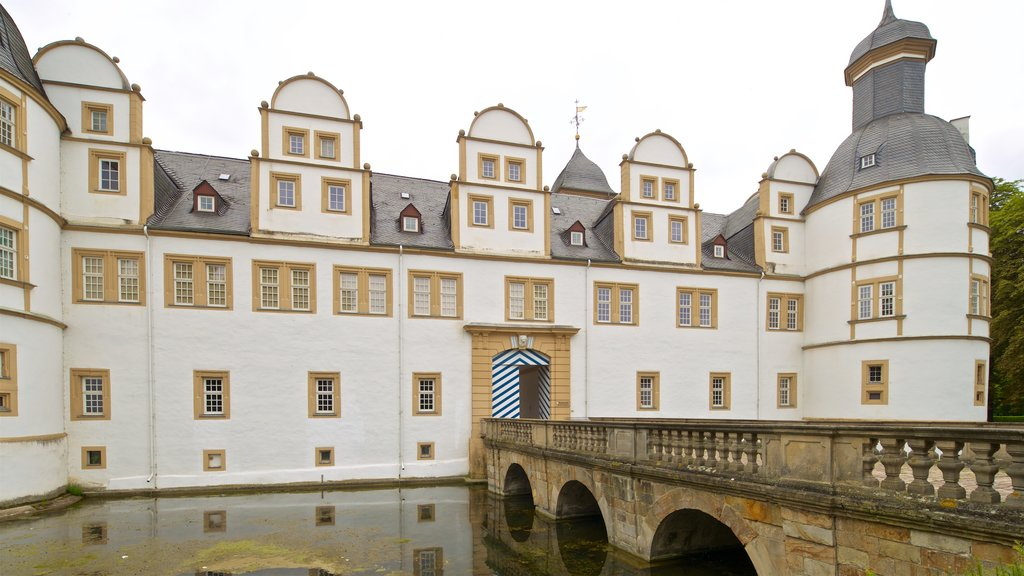Neuhaus Castle which includes heritage architecture and a bridge
