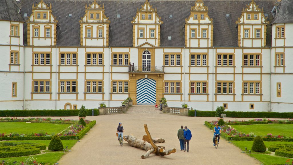 Neuhaus Castle showing a garden, chateau or palace and heritage architecture