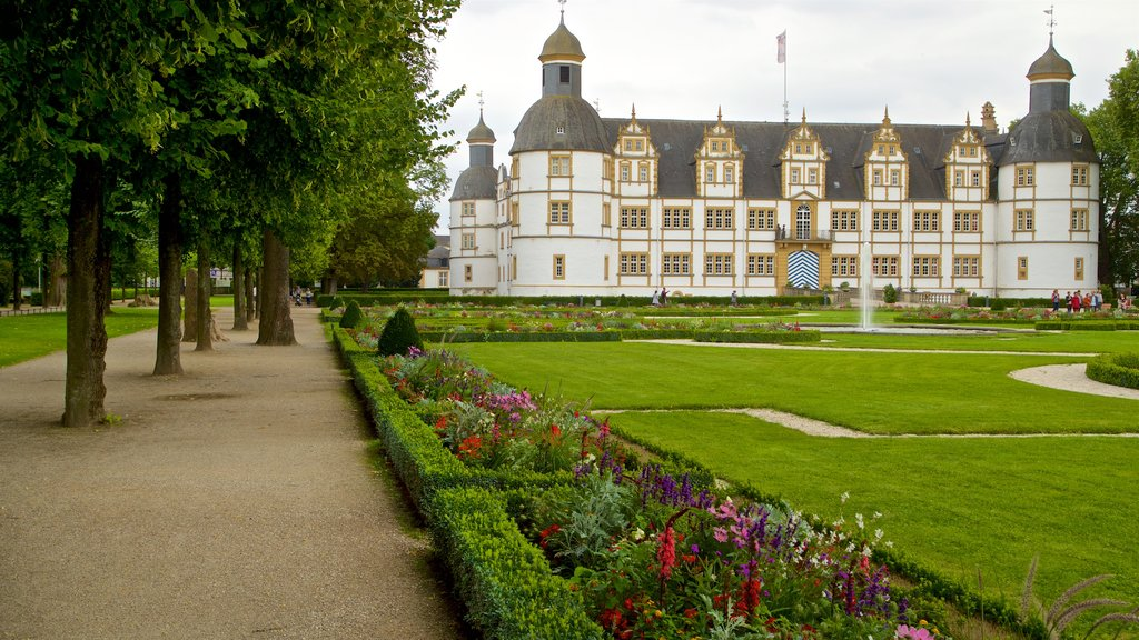 Neuhaus Castle showing chateau or palace, a garden and heritage architecture