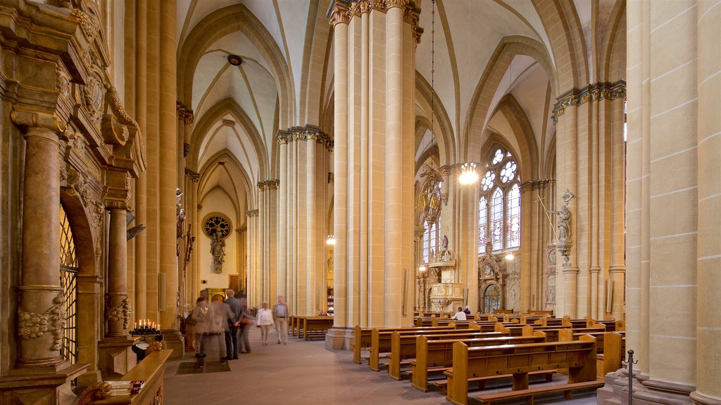 Paderborn Cathedral showing interior views, heritage elements and a church or cathedral