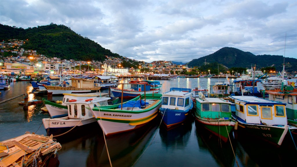 Angra dos Reis featuring a coastal town and a bay or harbor