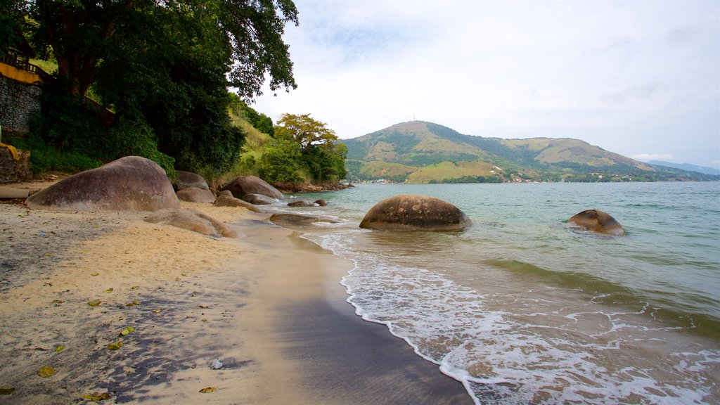 Eguas Beach which includes a beach and general coastal views
