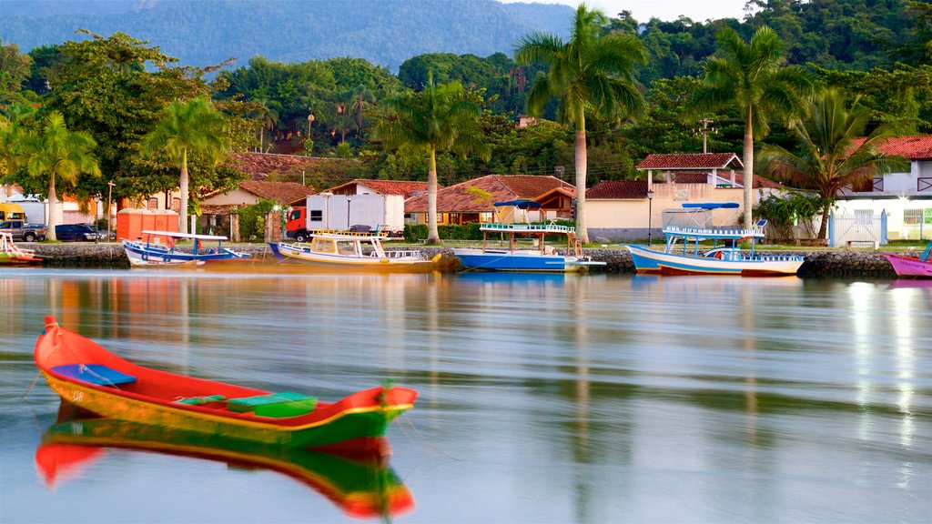 Paraty which includes a bay or harbor, tropical scenes and a coastal town