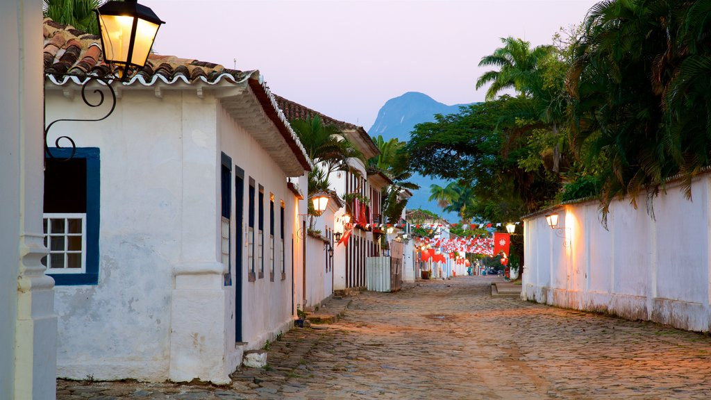 Paraty which includes a small town or village