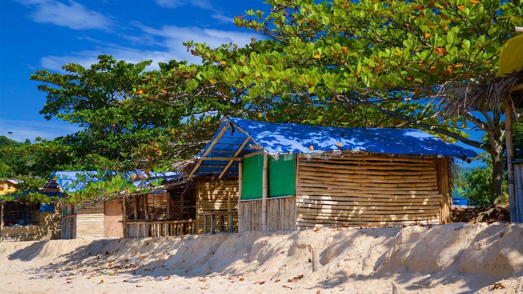 Ranch Beach which includes a beach, general coastal views and a coastal town