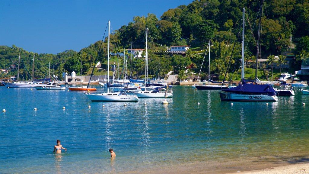 Angra dos Reis featuring a sandy beach, general coastal views and a bay or harbor