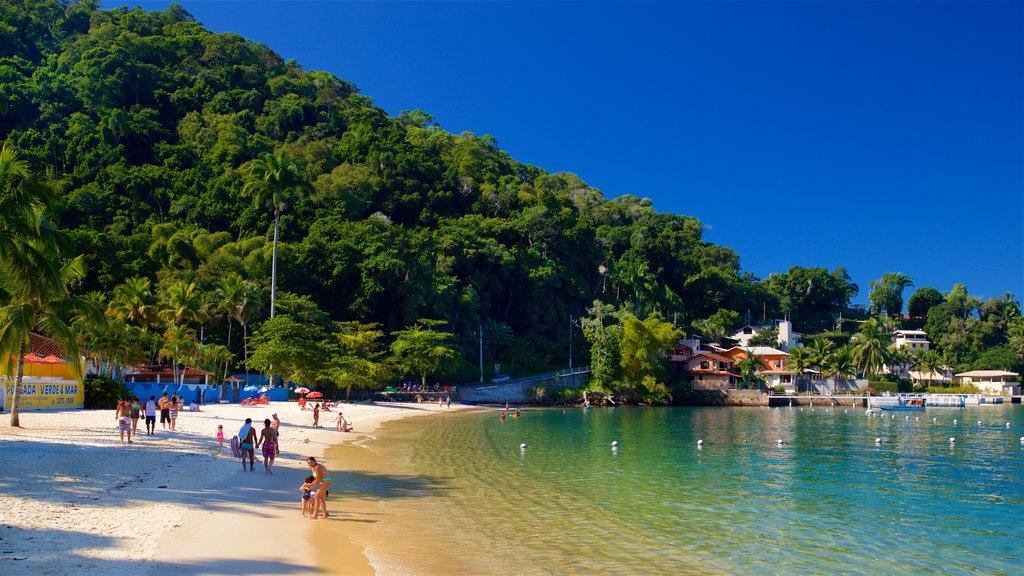 Angra dos Reis featuring a coastal town, a beach and general coastal views