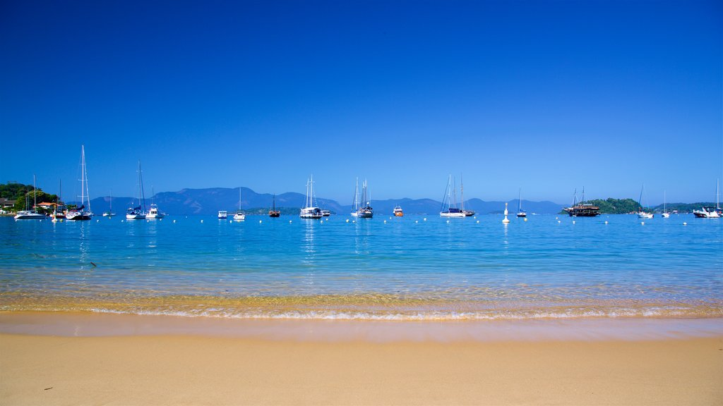 Angra dos Reis which includes a bay or harbor, a beach and general coastal views
