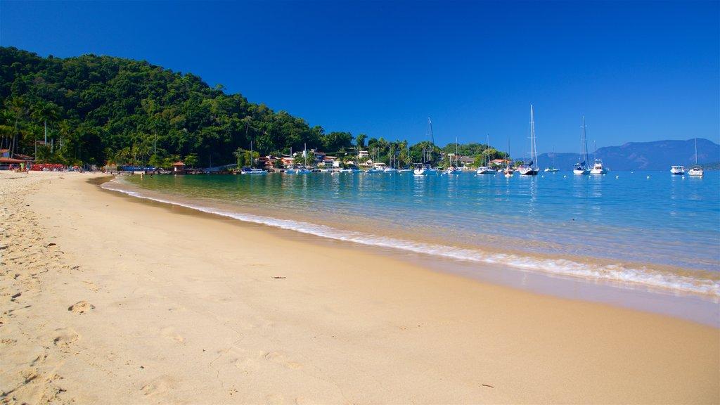 Angra dos Reis featuring a bay or harbor, a beach and general coastal views