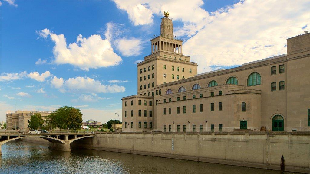Cedar Rapids - Iowa City showing a river or creek, heritage architecture and a bridge