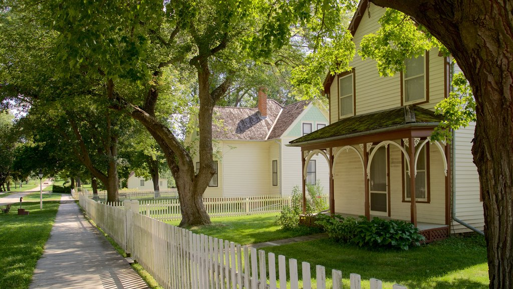 Herbert Hoover National Historic Site featuring a small town or village and a house