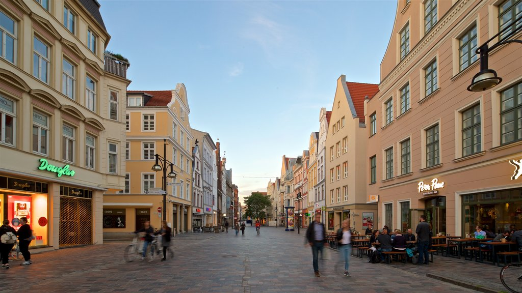 Rostock showing a city