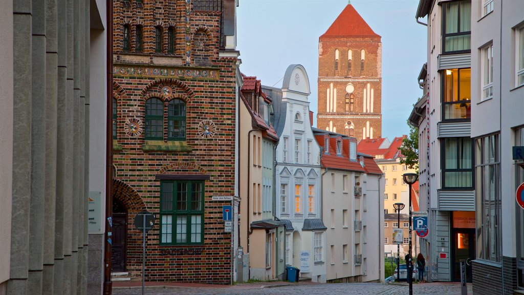 Rostock showing a city and heritage elements