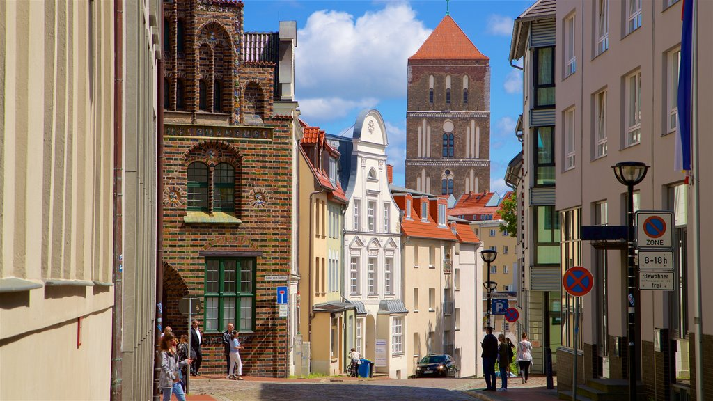 Rostock showing heritage elements and a city
