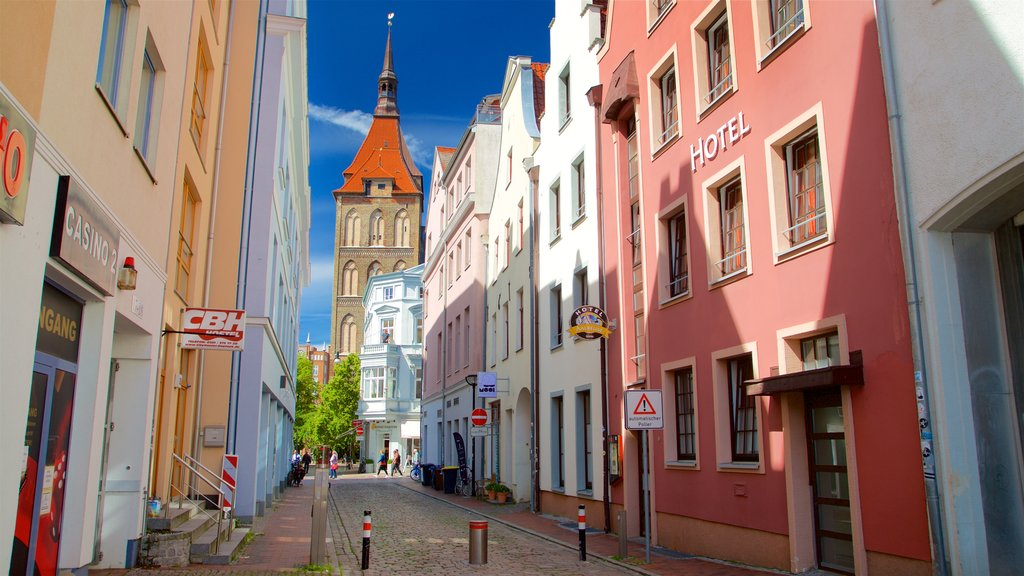 Rostock which includes heritage architecture