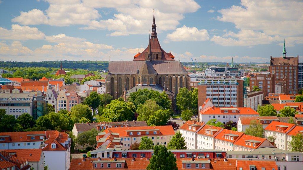 Petrikirche showing heritage architecture, landscape views and a city