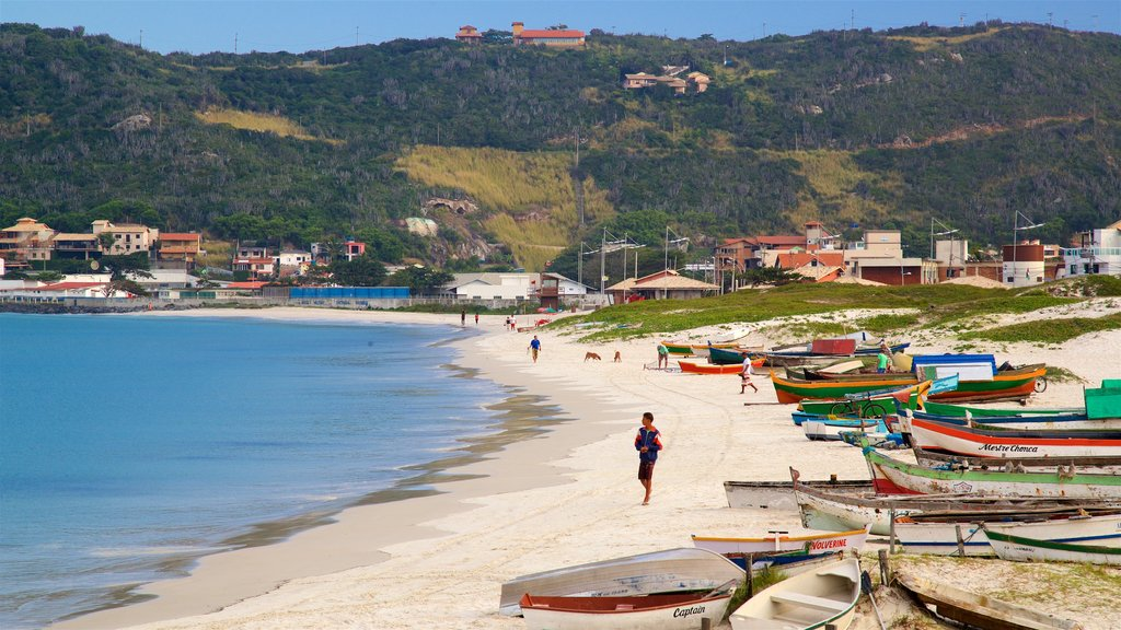 Forno Port showing general coastal views, a coastal town and a sandy beach
