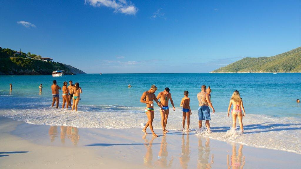 Pontal do Atalaia Beach which includes a beach, swimming and general coastal views