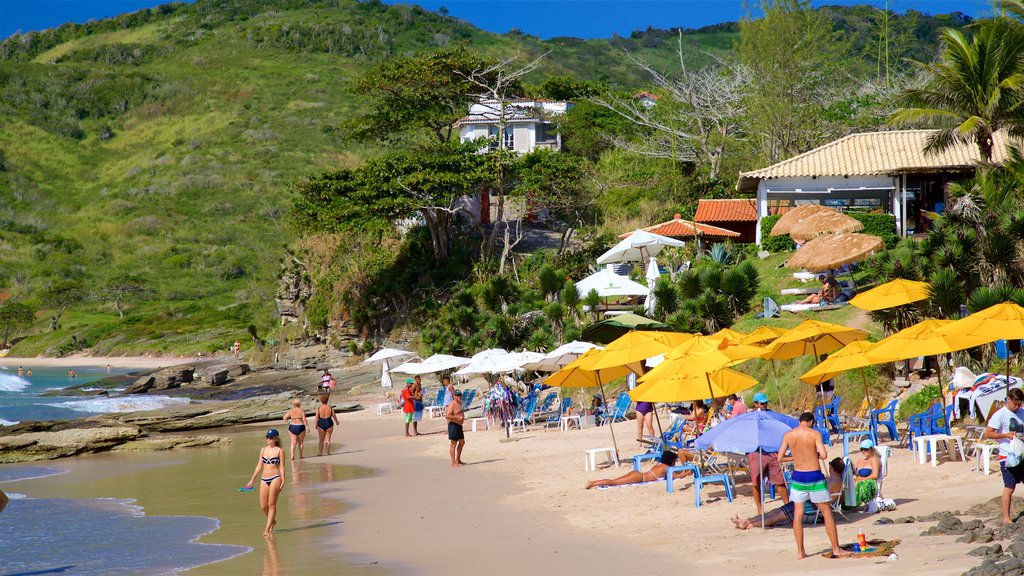 Brava Beach showing a beach and general coastal views as well as a small group of people