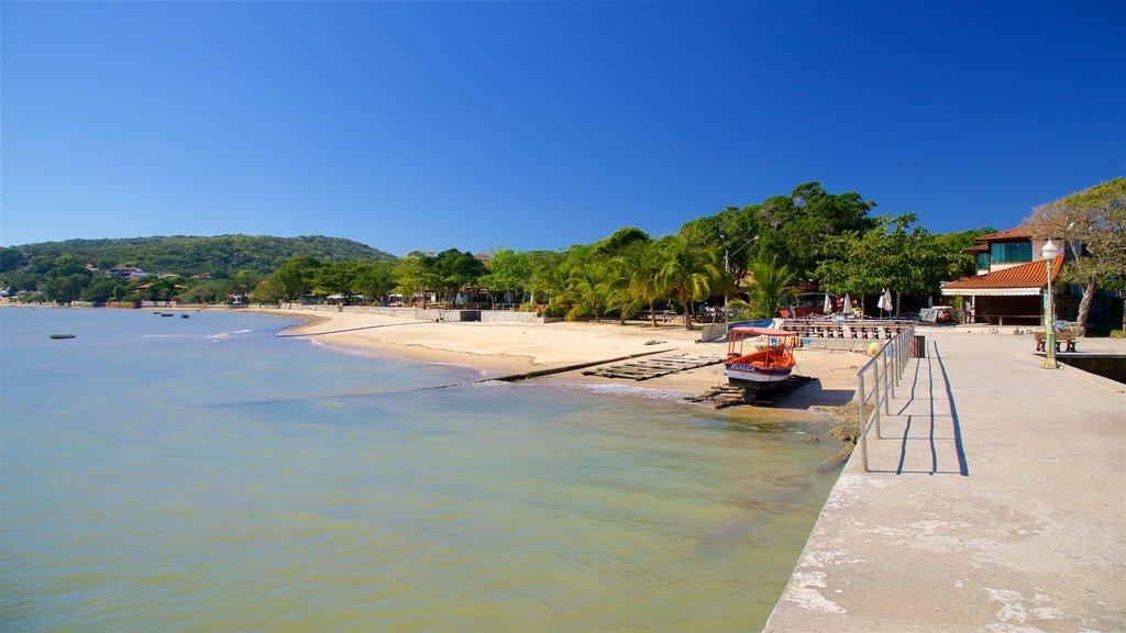 Manguinhos Beach featuring general coastal views, a beach and a coastal town