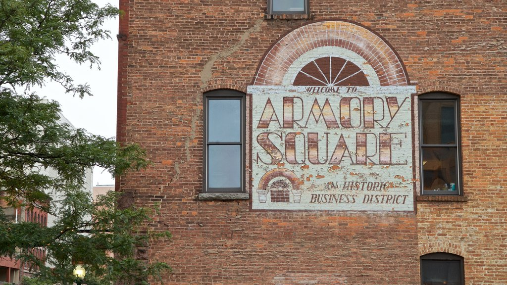 Armory Square showing signage