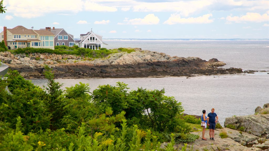 Ogunquit Museum of American Art showing rugged coastline and general coastal views as well as a couple