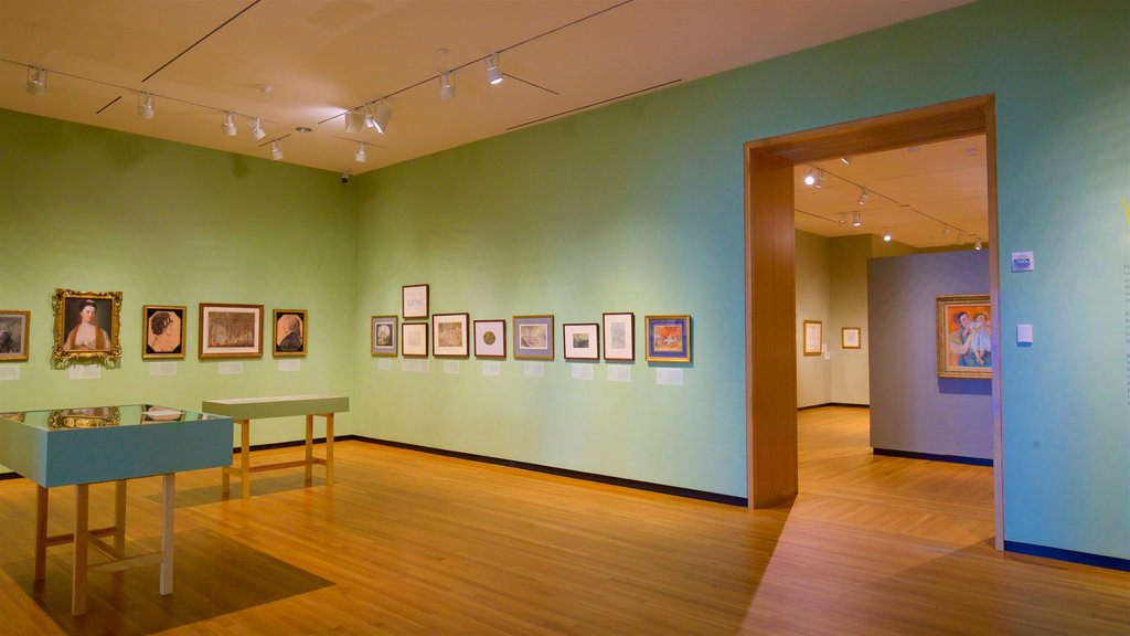 Bowdoin College Museum of Art which includes art and interior views
