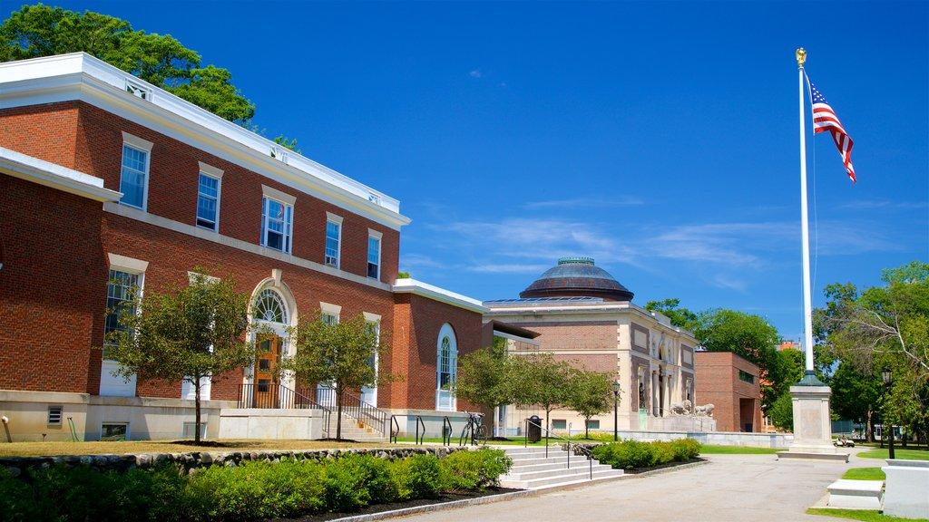 Bowdoin College which includes a garden
