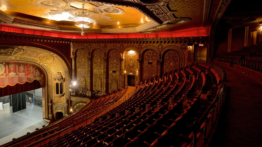 Landmark Theatre showing theater scenes, heritage elements and interior views