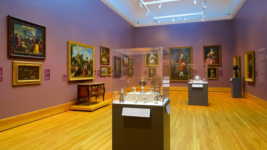 Bowdoin College Museum of Art which includes interior views and art
