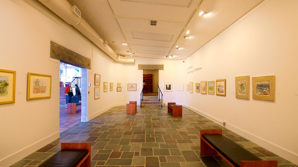 Ogunquit Museum of American Art showing interior views and art