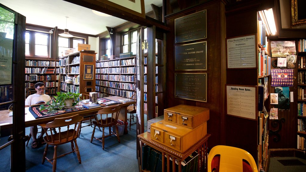 Ogunquit Memorial Library which includes interior views