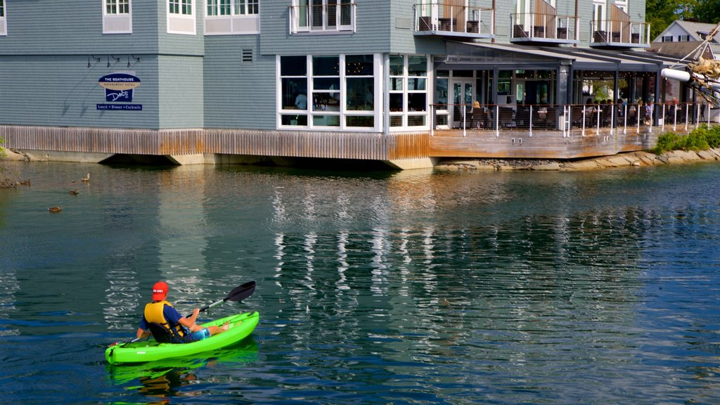 Kennebunkport which includes kayaking or canoeing and a bay or harbor as well as an individual male