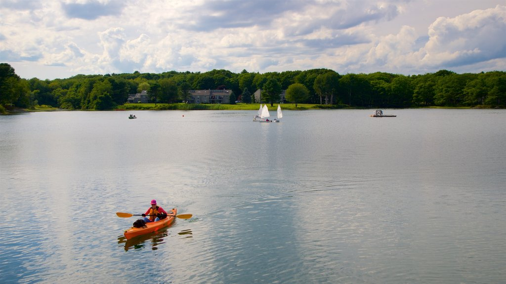 Kennebunkport which includes kayaking or canoeing and a lake or waterhole as well as an individual male
