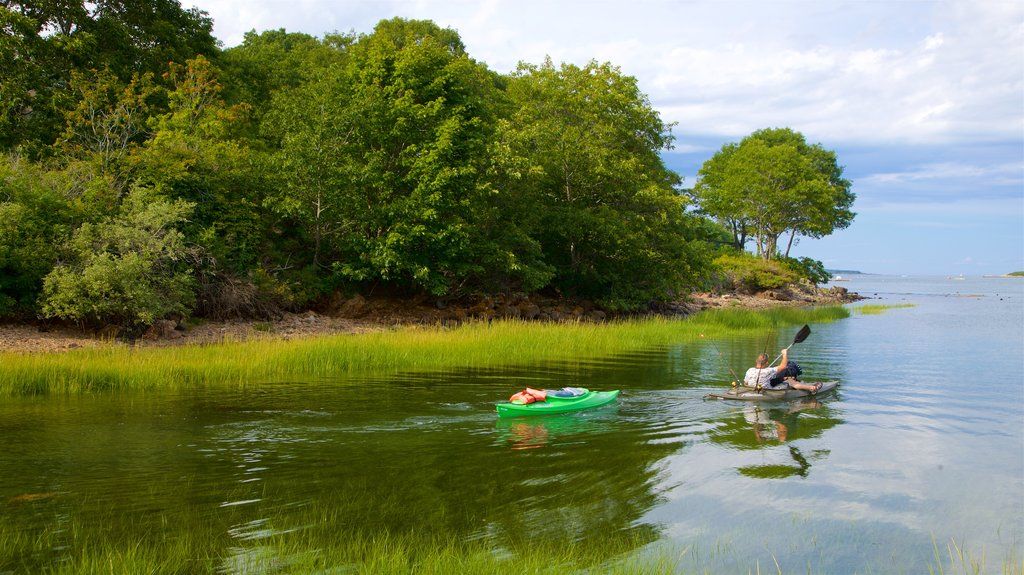 Cape Porpoise featuring a lake or waterhole and kayaking or canoeing as well as an individual male